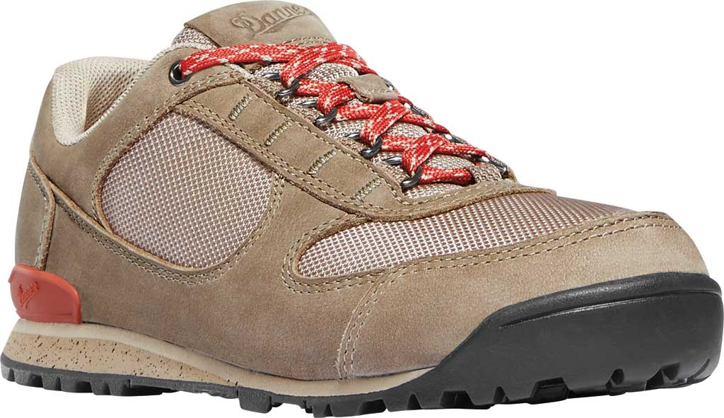 Women's Danner Jag Low Hiking Shoe, Timber Wolf/Hot Sauce Nubuck/Nylon, large, image 1