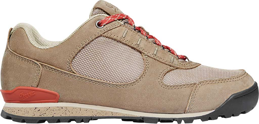 Women's Danner Jag Low Hiking Shoe, Timber Wolf/Hot Sauce Nubuck/Nylon, large, image 2