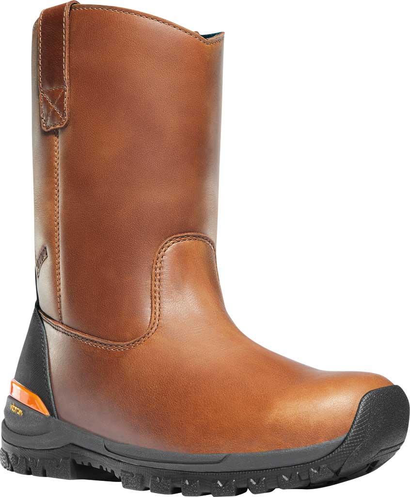 "Men's Danner Stronghold 10"" Non-Metallic Wellington Boot, Brown Full Grain Leather, large, image 1"