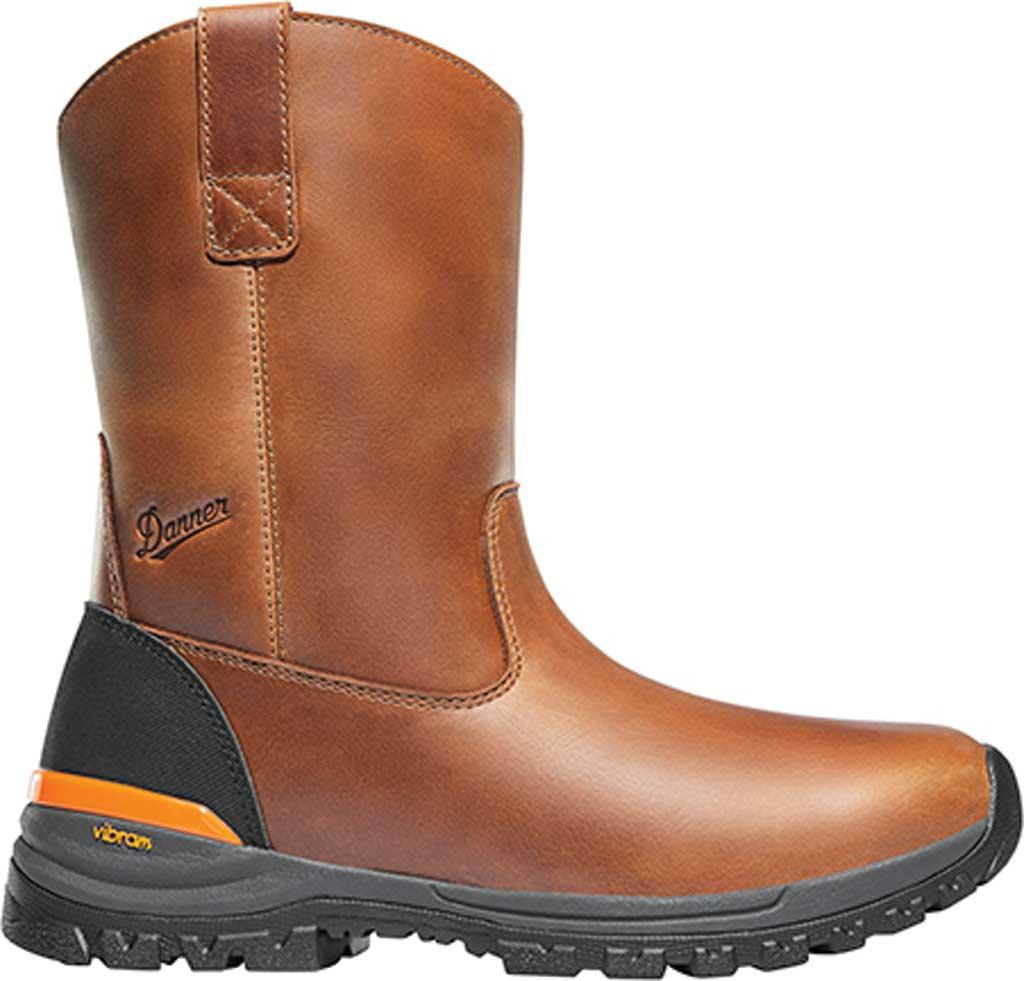 "Men's Danner Stronghold 10"" Non-Metallic Wellington Boot, Brown Full Grain Leather, large, image 2"