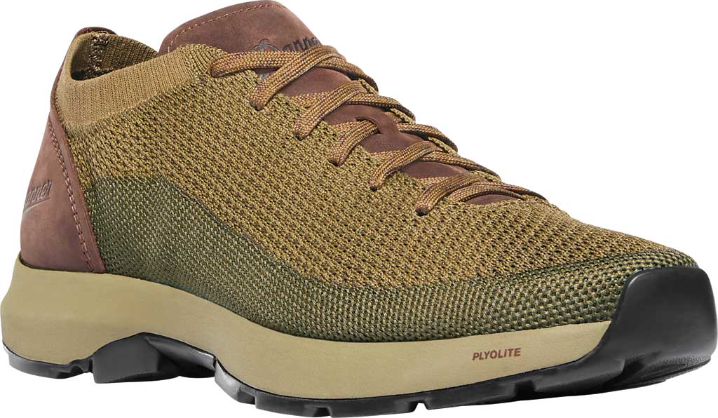 Men's Danner Caprine Low Hiking Shoe, Olive/Pinecone Nubuck/Textile, large, image 1