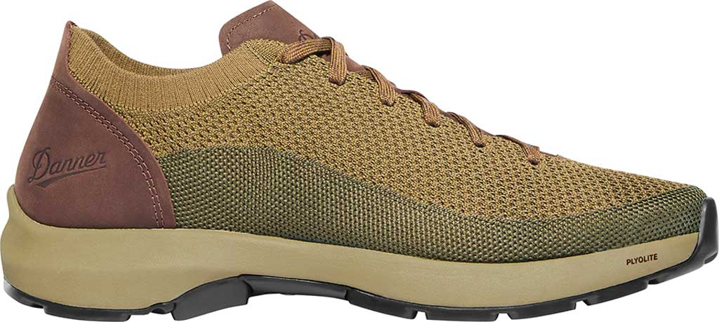 Men's Danner Caprine Low Hiking Shoe, Olive/Pinecone Nubuck/Textile, large, image 2