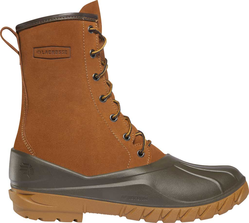 """Men's LaCrosse Aero Timber Top 10"""" Duck Boot, Clay Brown Suede/Polyurethane, large, image 1"""