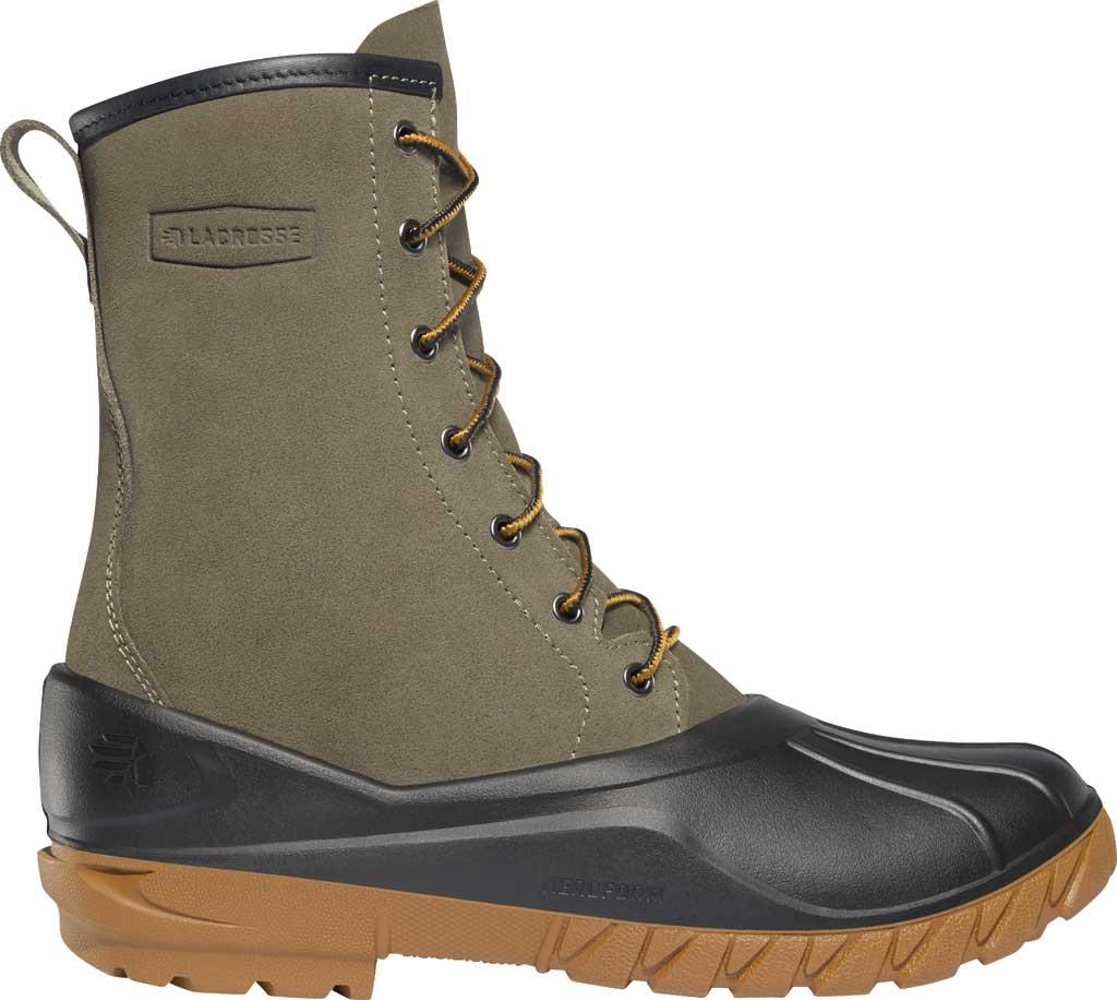"Men's LaCrosse Aero Timber Top 10"" Duck Boot, Gray/Black Suede/Polyurethane, large, image 1"