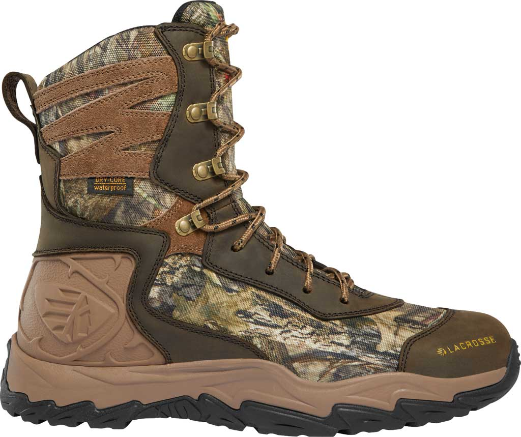 """Men's LaCrosse Windrose 8"""" 600G Hunting Boot, Mossy Oak Break-Up Country Nubuck Leather/Textile, large, image 1"""