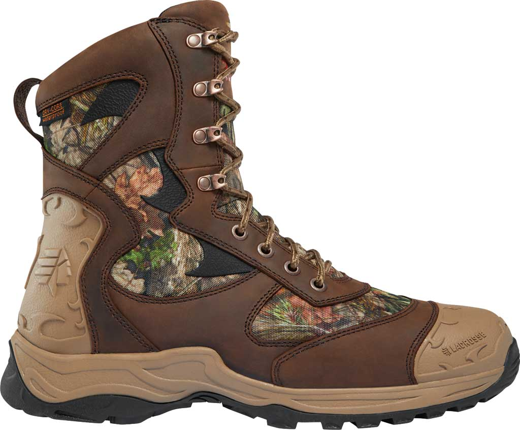 "Men's LaCrosse Atlas 8"" 1200G Hunting Boot, Mossy Oak Break-Up Country Nubuck Leather/Textile, large, image 1"