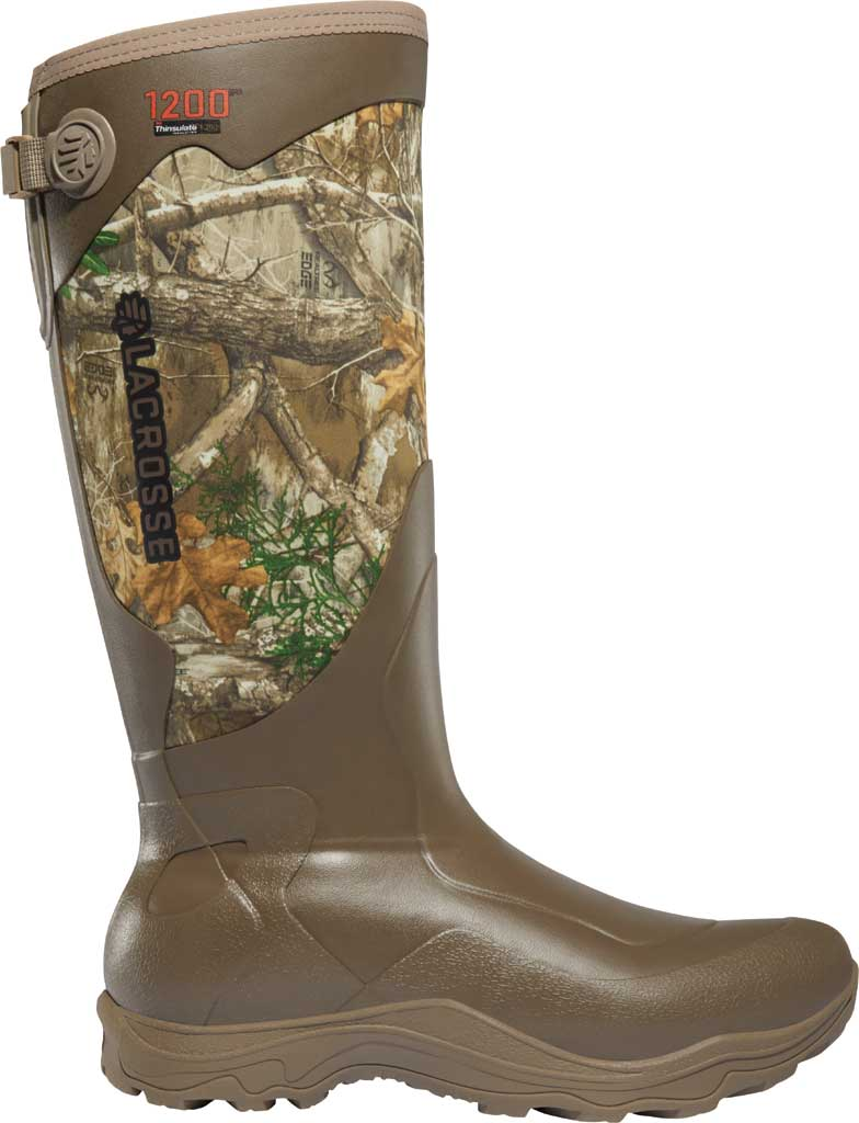 "Men's LaCrosse Alpha Agility 17"" 1200G Hunting Boot, Realtree Edge Rubber/Neoprene, large, image 1"