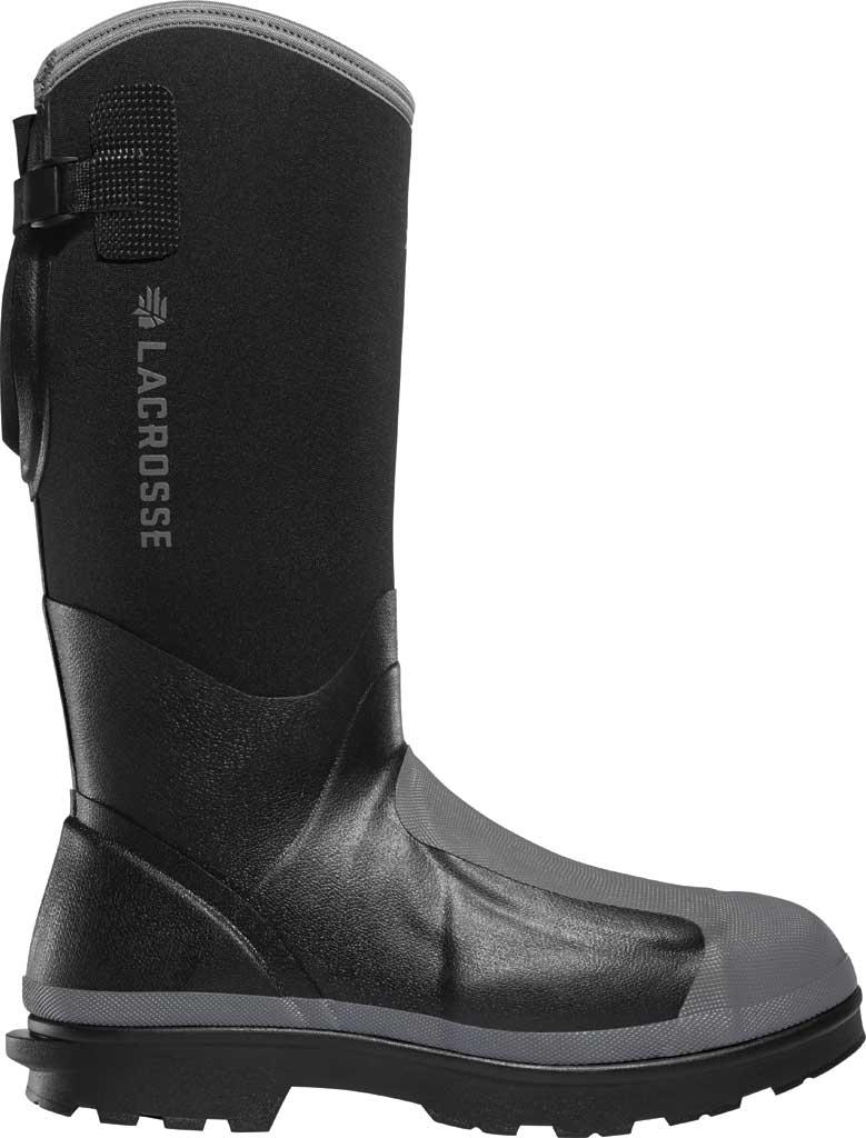 "Men's LaCrosse Alpha Range 14"" 5.0MM MET/PR/NMT Work Boot, Black Neoprene/Rubber, large, image 1"