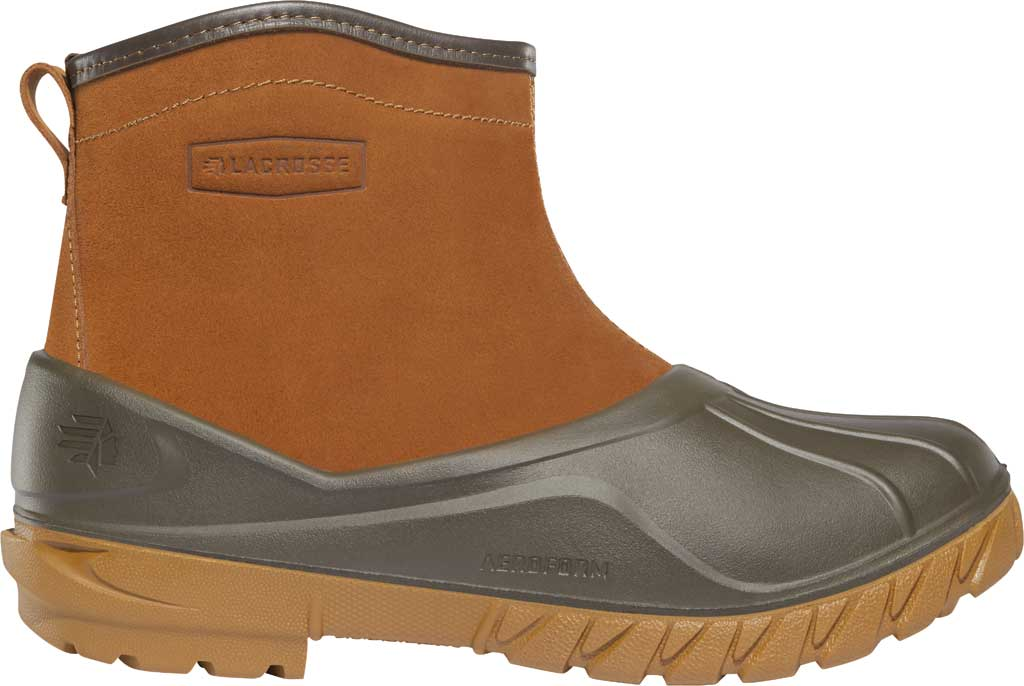 "Men's LaCrosse Aero Timber Top Slip On 6"" Duck Boot, Clay Brown Suede/Rubber, large, image 1"