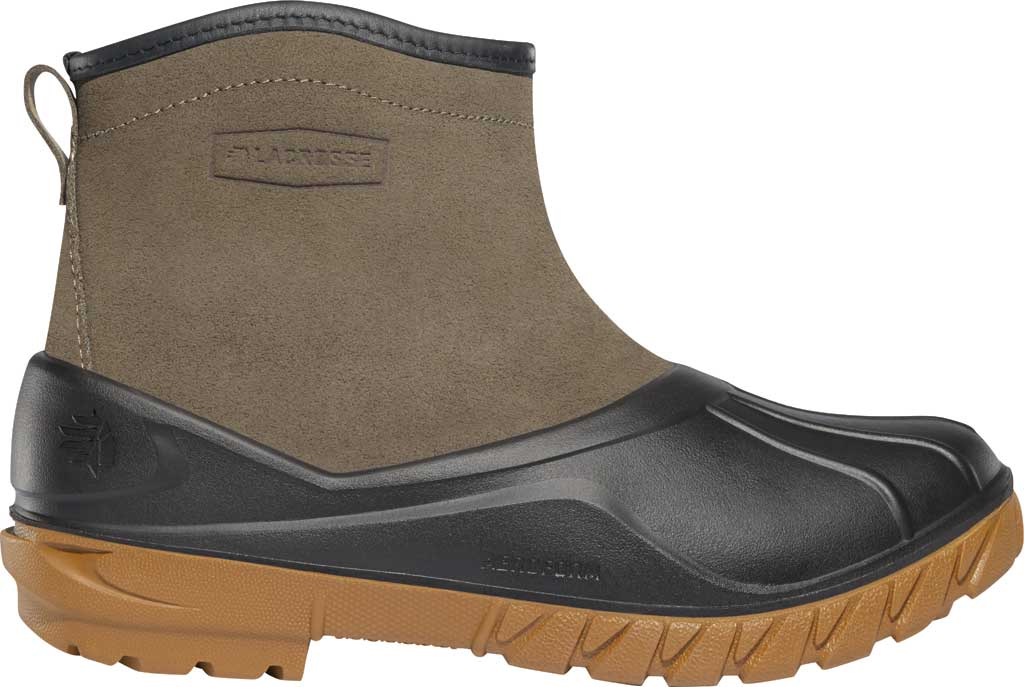 """Men's LaCrosse Aero Timber Top Slip On 6"""" Duck Boot, Gray/Black Suede/Rubber, large, image 1"""