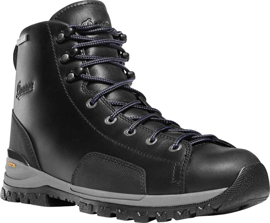 """Men's Danner Stronghold 6"""" NMT Work Boot, Black Full Grain Leather, large, image 1"""