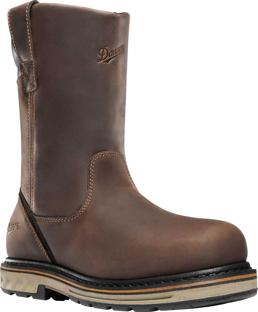 "Men's Danner Steel Yard 11"" Steel Toe Wellington Boot, Brown Leather, large, image 1"