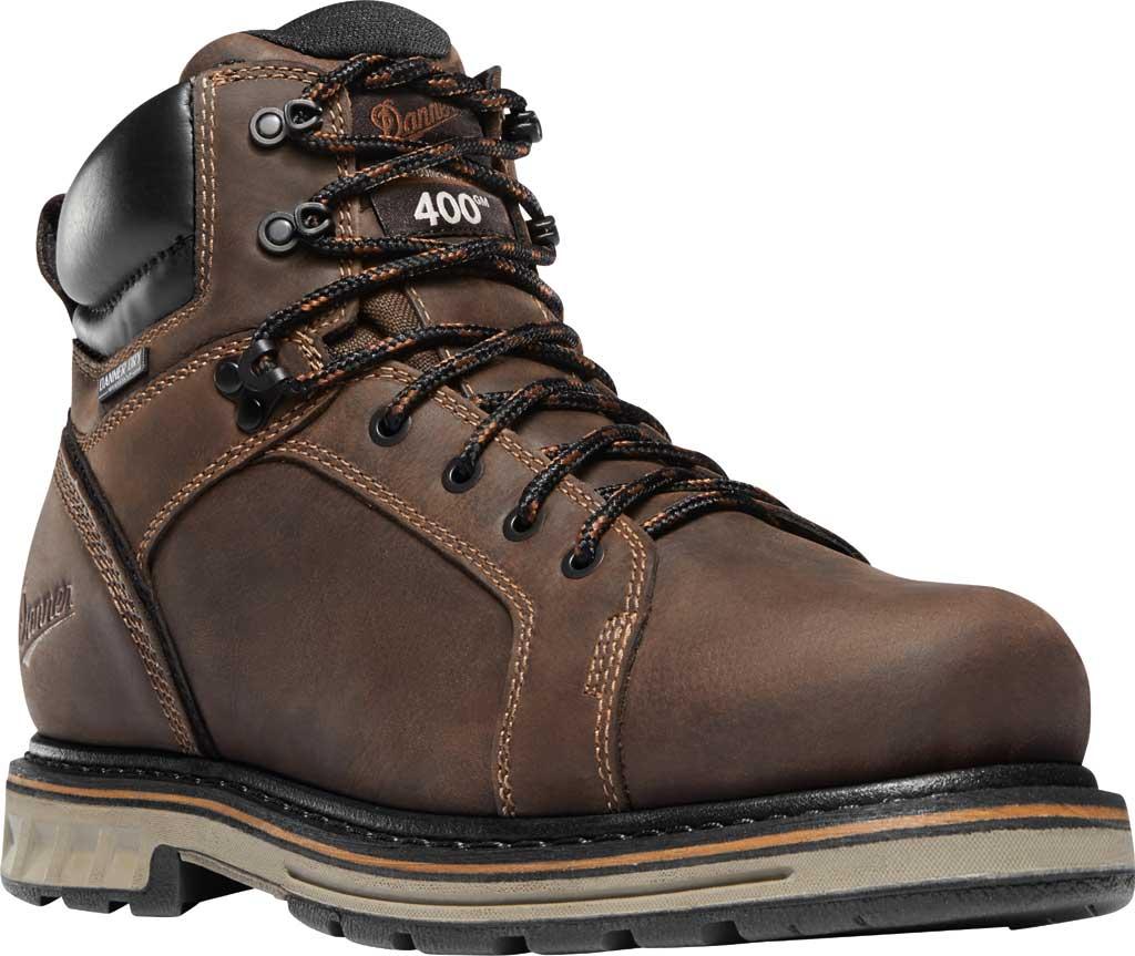 """Men's Danner Steel Yard 6"""" Steel Toe Work Boot, Brown Leather, large, image 1"""