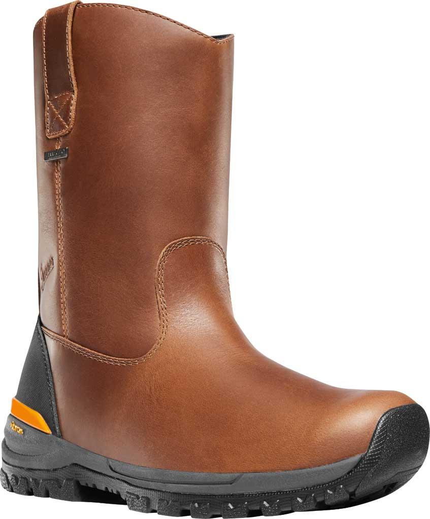 "Men's Danner Stronghold 10"" Waterproof Wellington Boot, Brown Full Grain Leather, large, image 1"