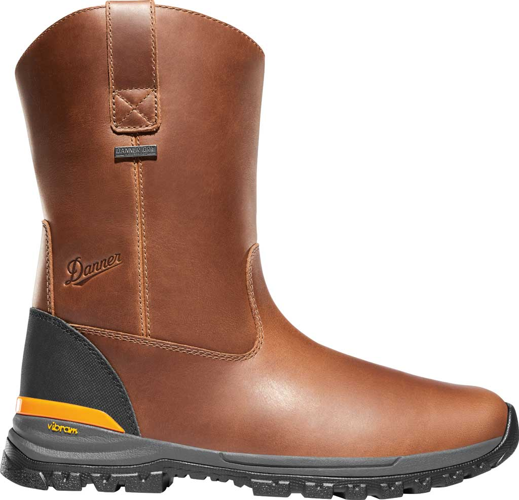 "Men's Danner Stronghold 10"" Waterproof Wellington Boot, Brown Full Grain Leather, large, image 2"