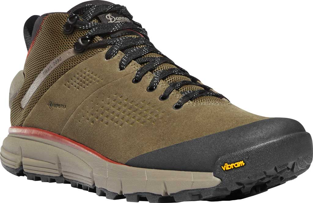 """Men's Danner Trail 2650 Mid 4"""" GORE-TEX Waterproof Boot, Dusty Olive Suede/Textile, large, image 1"""