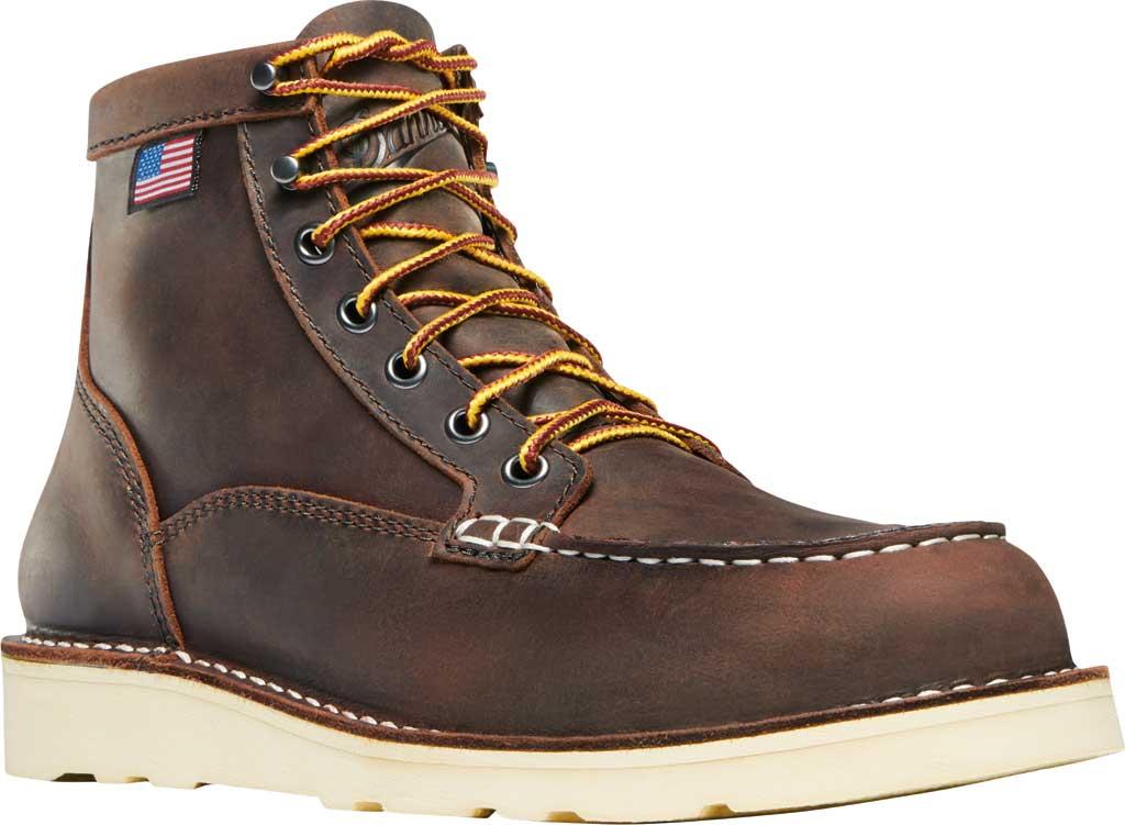 "Women's Danner Bull Run Moc Toe 6"" Steel Toe Boot, Brown Full Grain Leather, large, image 1"