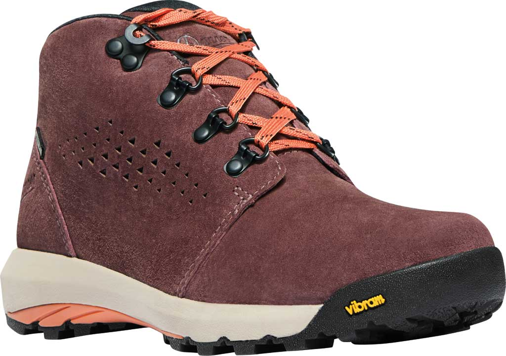 """Women's Danner Inquire Chukka 4"""" Waterproof Boot, Mauve/Salmon Suede, large, image 1"""