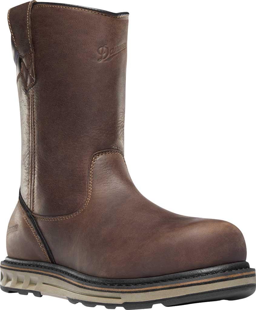 "Men's Danner Steel Yard 11"" HW Wellington Steel Toe Boot 12562, Brown Full Grain Leather, large, image 1"