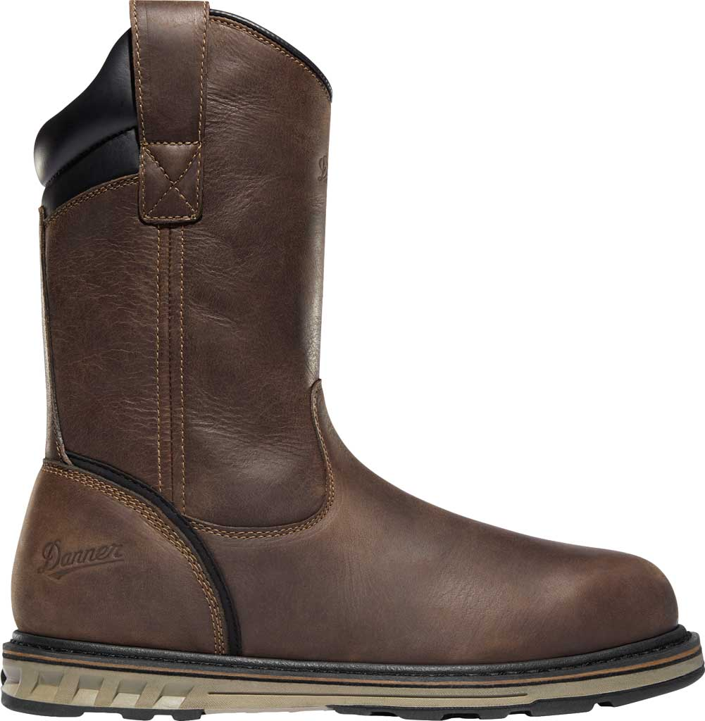 "Men's Danner Steel Yard 11"" HW Wellington Steel Toe Boot 12562, Brown Full Grain Leather, large, image 2"