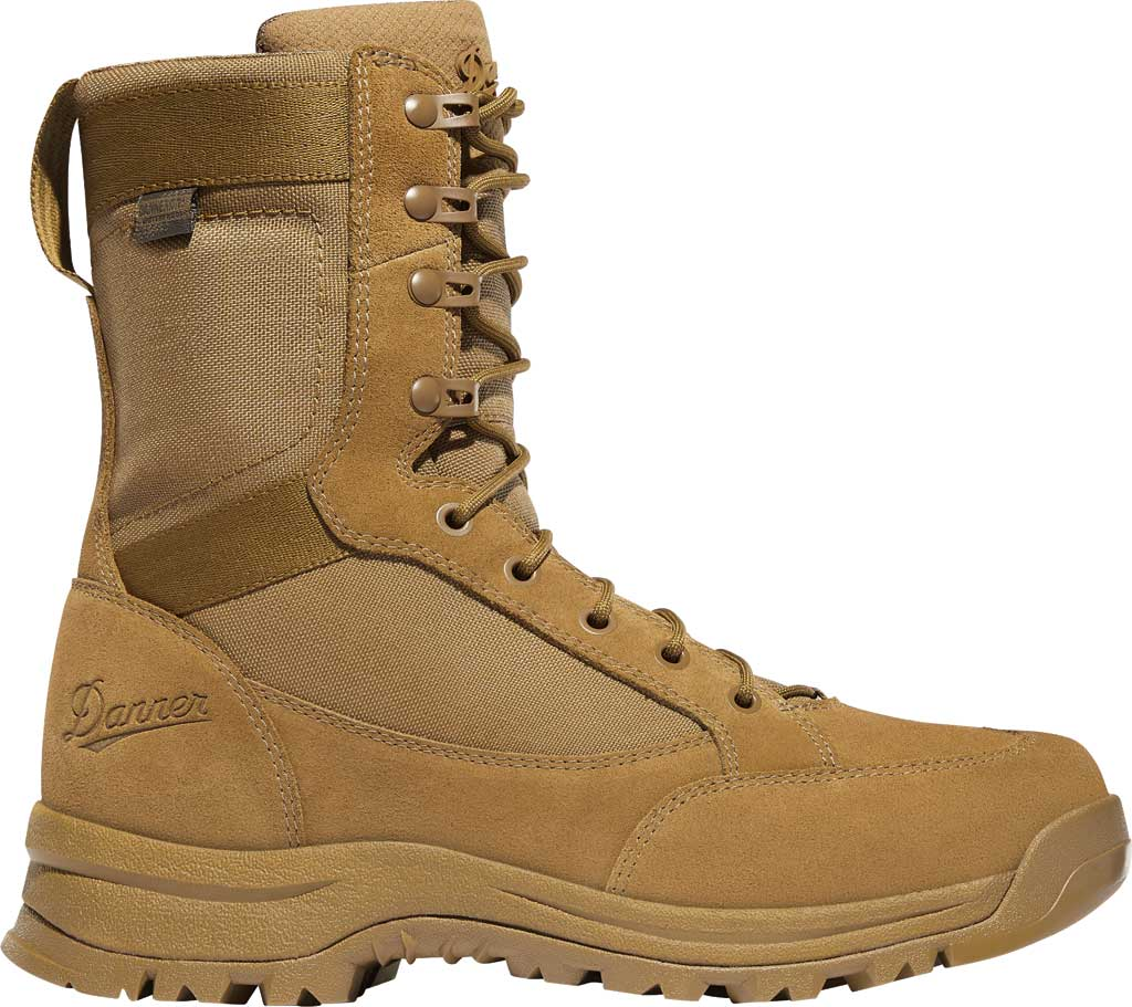 "Men's Danner Tanicus Side-Zip 8"" HW Soft Toe Boot 55322, Coyote Rough-Out Leather/Nylon, large, image 2"