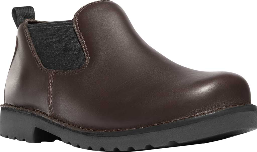 "Men's Danner Romeo 3"" HW Chelsea Work Boot 44030, Brown Full Grain Leather, large, image 1"