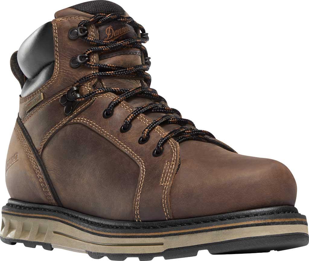 "Men's Danner Steel Yard 6"" Steel Toe Work Boot 12537, Brown Full Grain Leather, large, image 1"
