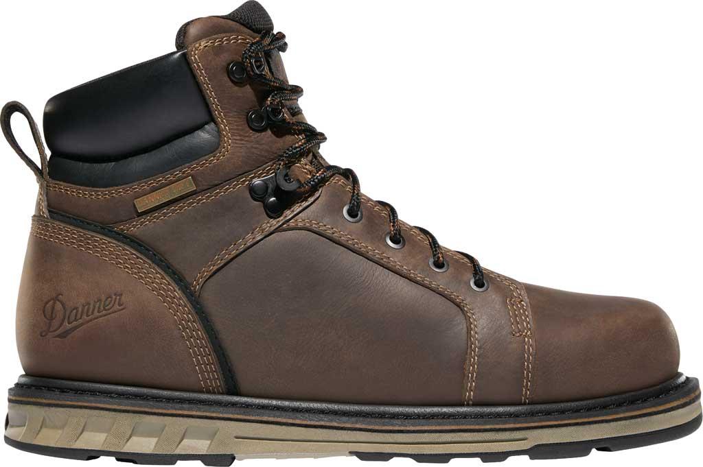 "Men's Danner Steel Yard 6"" Steel Toe Work Boot 12537, Brown Full Grain Leather, large, image 2"