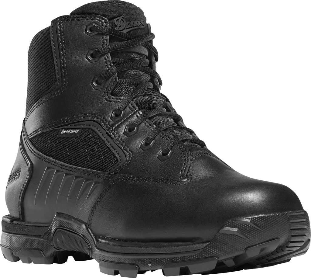 "Men's Danner StrikerBolt Side-Zip 6"" GTX Work Boot 26635, Black PU Coated Leather/Nylon, large, image 1"