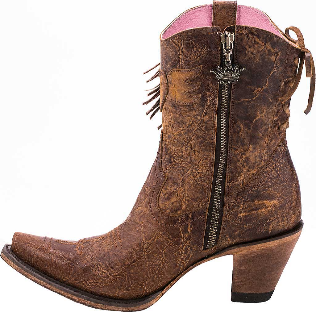 Women's Junk Gypsy by Lane Spirit Animal Western Ankle Bootie, Brown Calf Leather, large, image 3