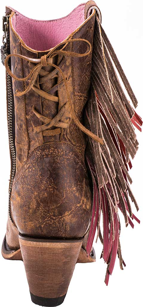 Women's Junk Gypsy by Lane Spirit Animal Western Ankle Bootie, Brown Calf Leather, large, image 4