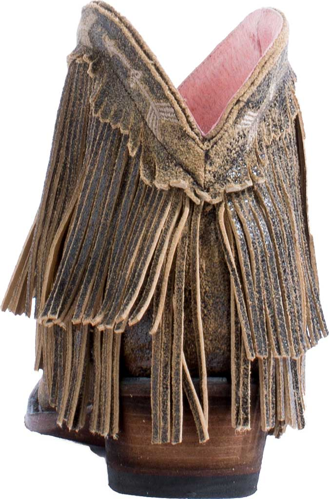 Women's Junk Gypsy by Lane Spitfire Fringe Western Bootie, Brown Calf Leather, large, image 4