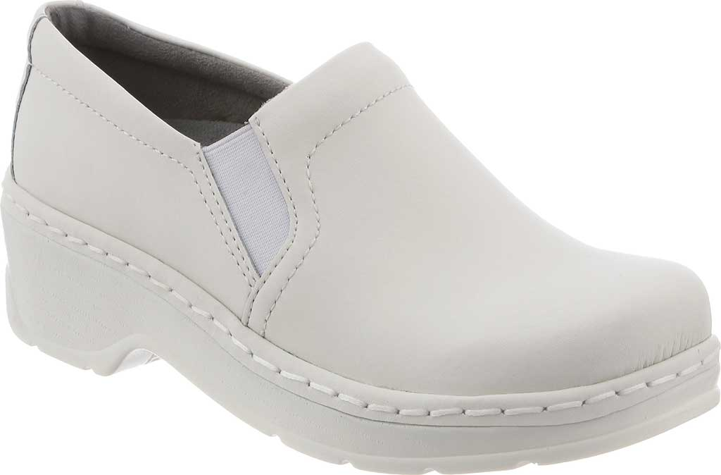 Women's Klogs Naples Clog, White Smooth Leather, large, image 1