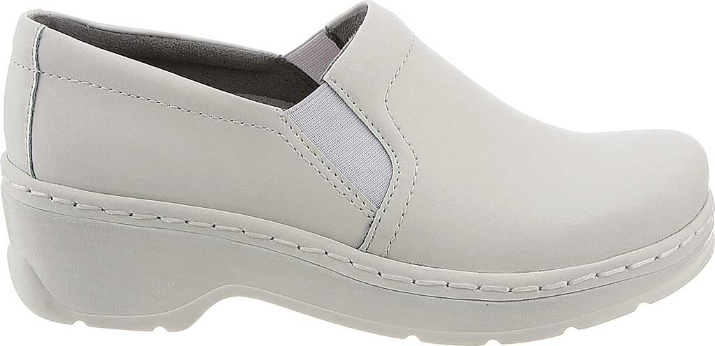 Women's Klogs Naples Clog, White Smooth Leather, large, image 2