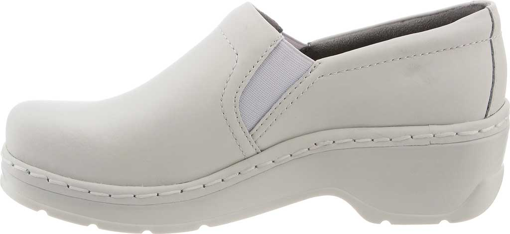 Women's Klogs Naples Clog, White Smooth Leather, large, image 3