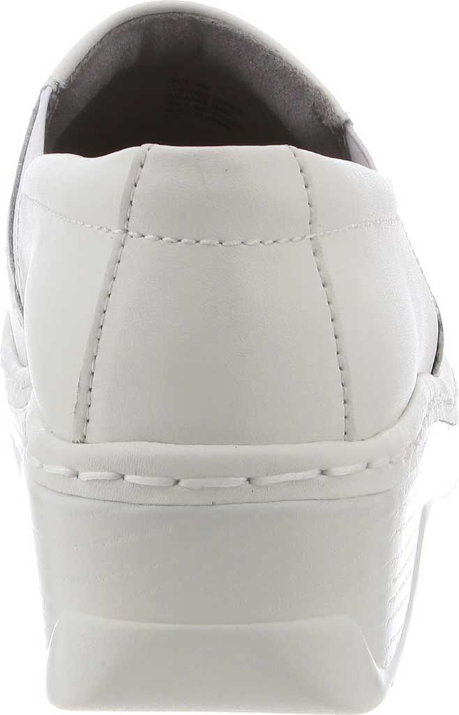 Women's Klogs Naples Clog, White Smooth Leather, large, image 4