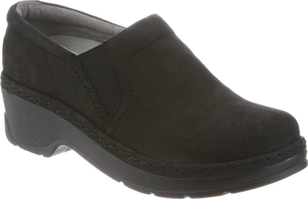 Women's Klogs Naples Clog, Black Oiled Leather, large, image 1