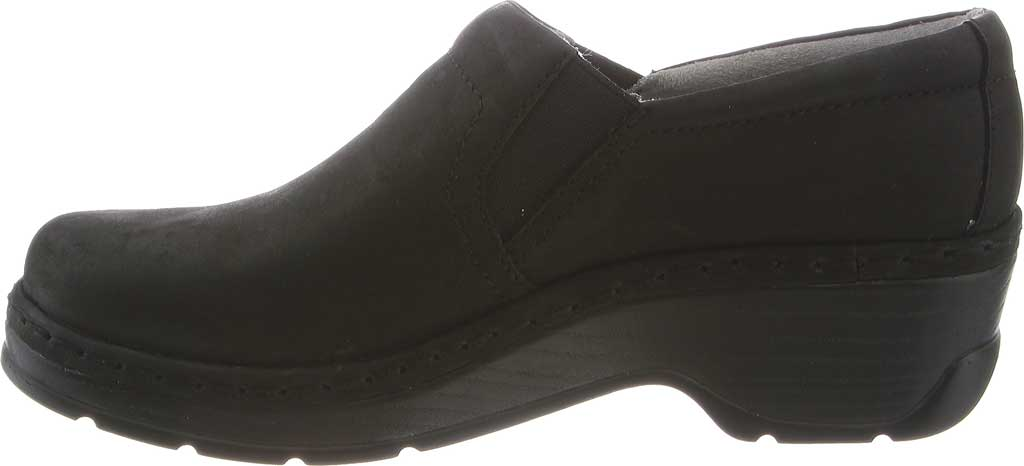 Women's Klogs Naples Clog, Black Oiled Leather, large, image 3