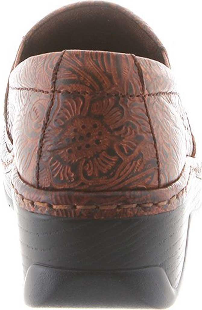 Women's Klogs Naples Clog, Brown JW Floral Leather, large, image 4