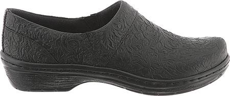 Women's Klogs Mission, Black Tooled Leather, large, image 2