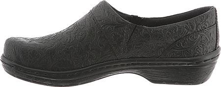 Women's Klogs Mission, Black Tooled Leather, large, image 3