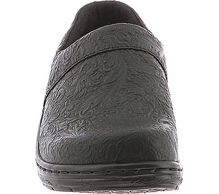 Women's Klogs Mission, Black Tooled Leather, large, image 4