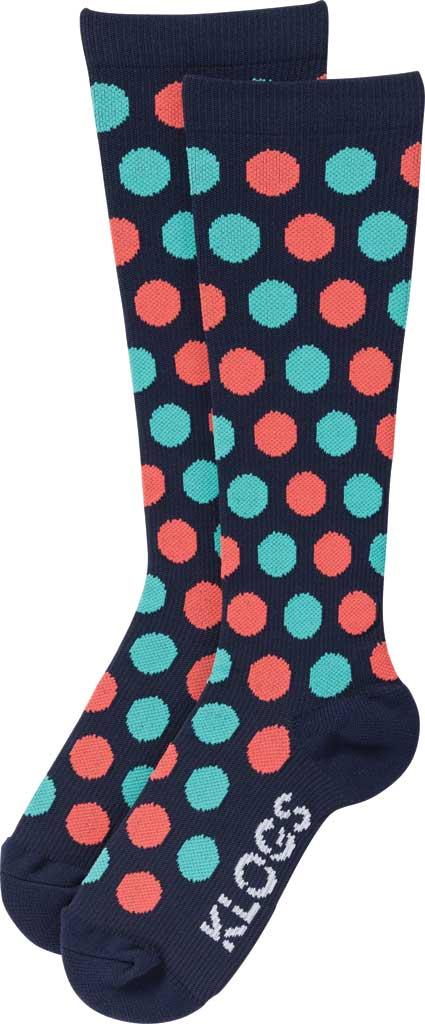 Women's Klogs Trouser Compression Sock, Multi Navy Dots, large, image 2