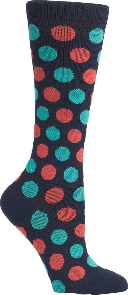 Women's Klogs Trouser Compression Sock, Multi Navy Dots, large, image 3
