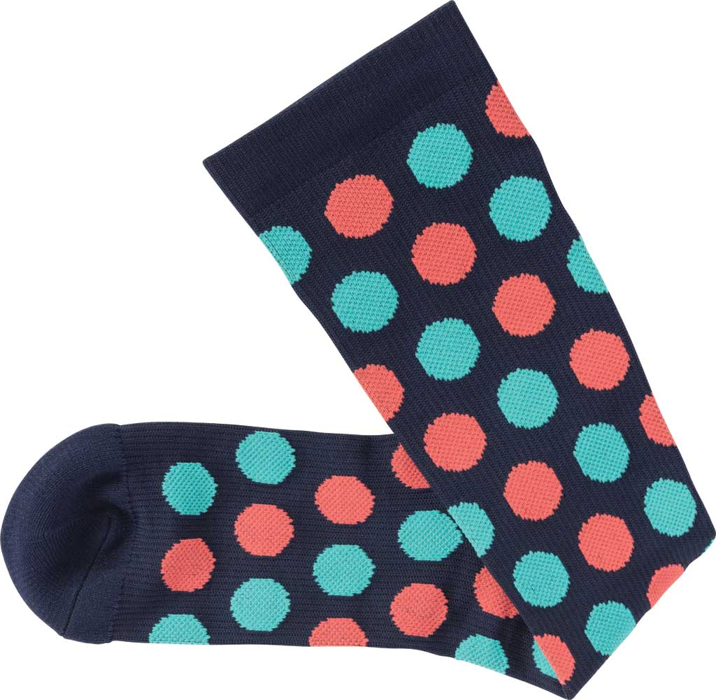 Women's Klogs Trouser Compression Sock, Multi Navy Dots, large, image 4