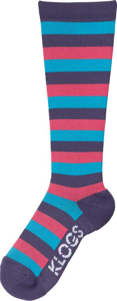 Women's Klogs Trouser Compression Sock, Multi Purple Reign Stripe, large, image 1