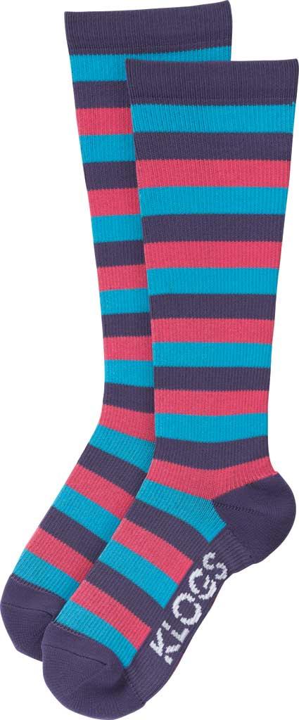 Women's Klogs Trouser Compression Sock, Multi Purple Reign Stripe, large, image 2