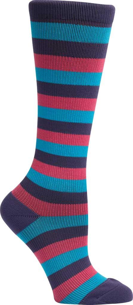 Women's Klogs Trouser Compression Sock, Multi Purple Reign Stripe, large, image 3