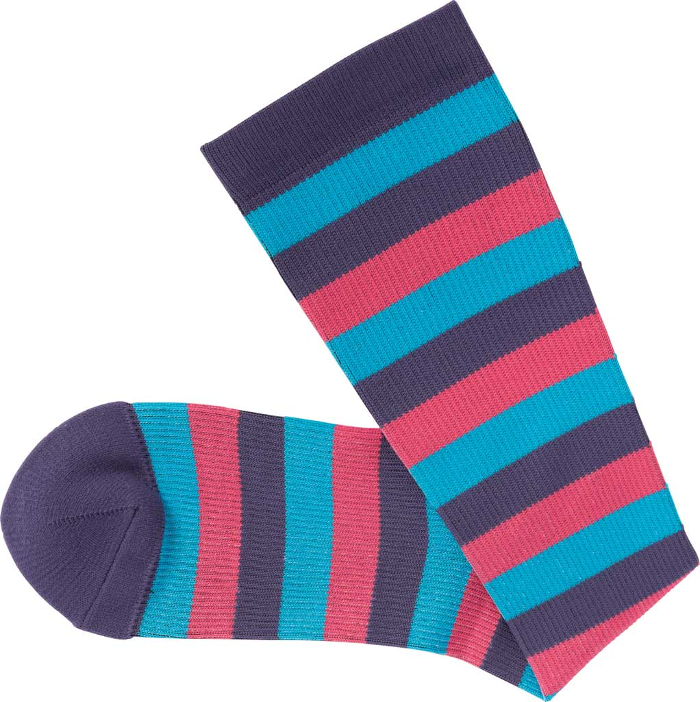 Women's Klogs Trouser Compression Sock, Multi Purple Reign Stripe, large, image 4