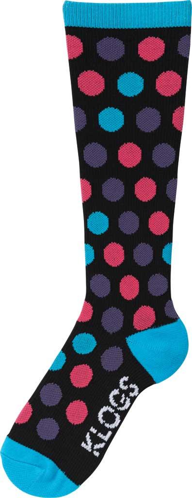 Women's Klogs Trouser Compression Sock, Multi Vivid Blue Dots, large, image 1